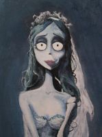 Corpse Bride Painting by K1D6R4Y
