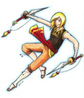Colored Pencil Assassin by pettyartist