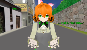.:MMD:. ''I'm... Not a Real Girl...'' by Miku-Nyan02