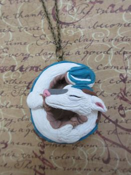 Haku - Spirited Away Dragon necklace by rude-and-reckless