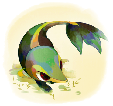 Snivy, the forest alive by TrickU