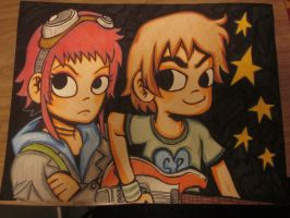 Scott Pilgrim and Ramona Flowers by TheDorkyDerpster