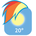 MLP:FiM Rainbow Dash Mane iPhone Weather Icon by craftybrony