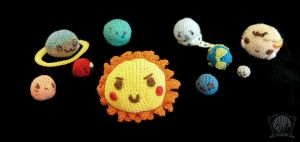 The Solar System completed Amigurumi plush by Tofe-lai
