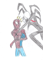 Spiderman vs Slenderman by UltimateKidGoku