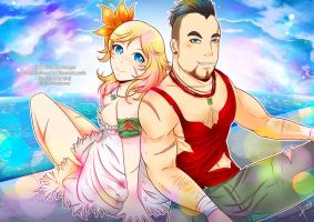 Commish: Lily and Vaas by kirej7
