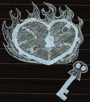 Beat Up Heart AND Skull Key by Piggy911