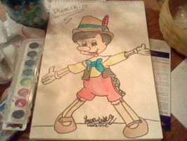Pinocchio Watercolor Painting by GothicTaco198