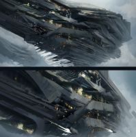 Big ship sketches by Tryingtofly