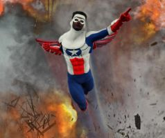 Falcon Cap America 2nd skin textures for M4 by hiram67