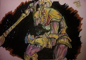 League Of Legends Nasus drawing by Caglar OKU by CaglarOKUR