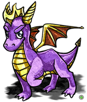 Spyro the Dragon by Jacktoon