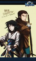 Back to back: Kojuro and Mio by The-Longfall-of-1979