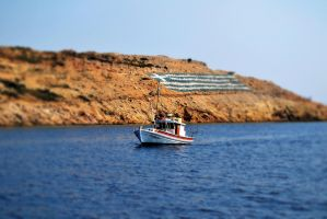 Greek Boat by Barducio