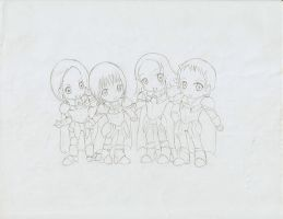 "Claymore Chibis ""_"" sketch by kshinigami"
