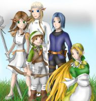 Dragon Quest VIII: OCs by Lady-of-Link