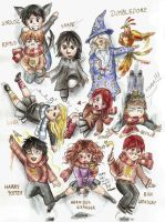 Harry Potter chibi group by SirSubaru
