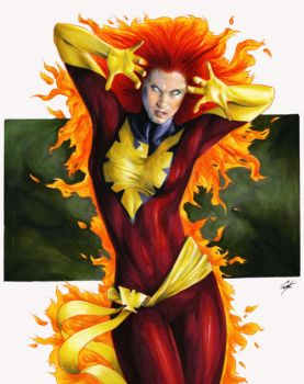 Dark Phoenix commission by gattadonna
