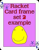 Face card Rackets frame set 2 for PSP8 by Wild-Card-CR