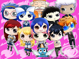 FAIRY TAIL members (chibi fan art ) by ecmmajin