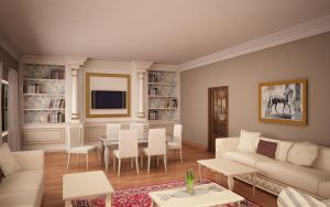 Classic Living Room 07 by Murataral