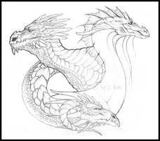 Three elements sketch by LiLaiRa