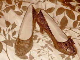 Ruby Slippers in Sepia Mode by TheWizardofOzzy