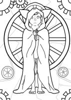 Wheel of Fortune - Tahani WIP 3 by CaosDraws