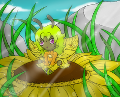 -Gift- Sunflower bed by Peridotty