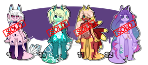 Bavacoda Adoptables 9 - 12 [[ CLOSED ]] by MessenVerse