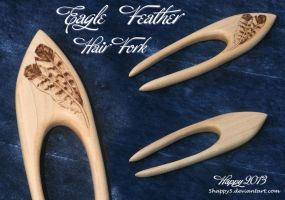 Eagle Feather Hair Fork - For Sale by 5Happy5
