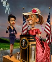 Southern Belle Obama by funkwood