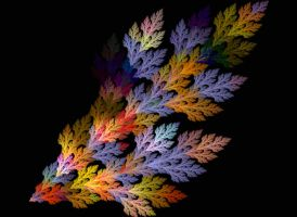 Multi-Colored Fern by moonhigh