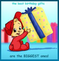 Com: Baby Alvin Birthday by BoredStupid100