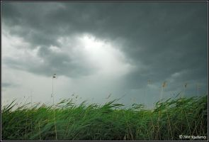 Storm over Lasmiady Lake by Dark-Raptor