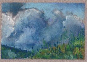 Clouds I ACEO by Angela-Vandenbogaard