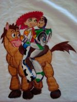 Buzz and Jessie on tshirt by theOrangeSunflower