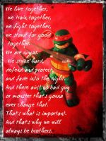 TMNT:: Raph: We will always be brothers by Culinary-Alchemist