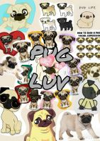 Pug Collage by DiscoDiamonds