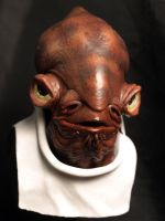 Admiral Ackbar bust by ChaoticLandscape