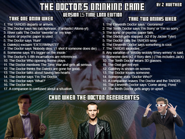 THE DOCTOR'S DRINKING GAME: TIME LORD EDITION by Keinemacht