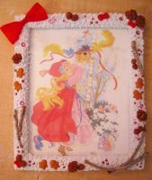 Lady Lovely Locks Christmas Decoden Picture Frame by NamineEveningLight
