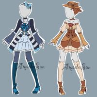 Victorian Outfits  Adoptables CLOSED by AS-Adoptables