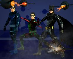 Bat family under attack by hiram67