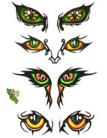 Tribal eyes by Twistedink