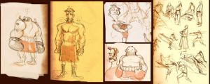 Moleskine: boxers and karate by Andres-Blanco