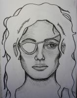 Woman with an Eyepatch by sapphiresphinx