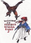 Wolverine Vs Kenshin Himura Round 2 by thorman