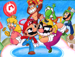 Mario Party by Piranhartist