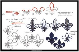 How to Tangle 31 Fleur-de-Lys quaddles-roost by Quaddles-Roost